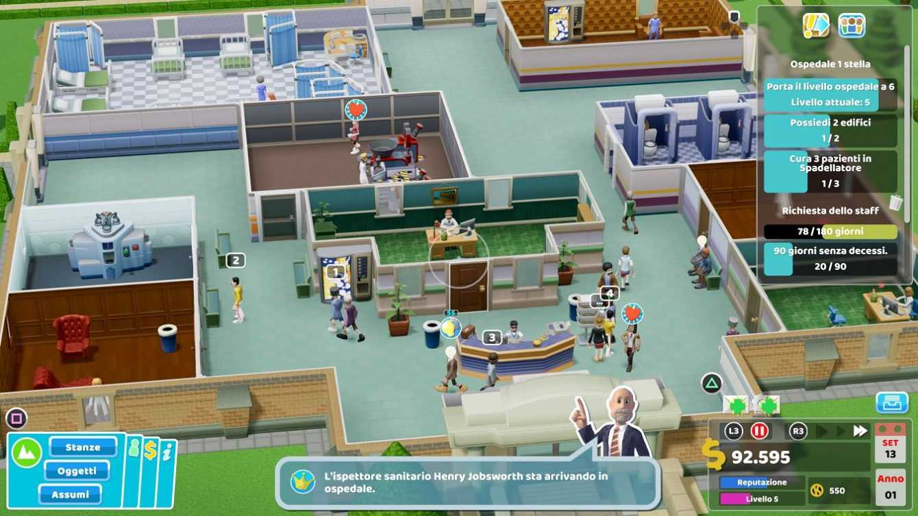 Review Two Point Hospital: Jumbo Edition, clown in the lane!