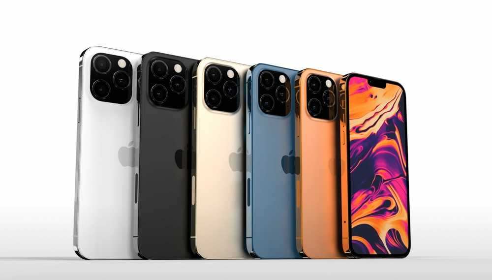 iPhone 13: smaller notch, two new colors and LTPO display