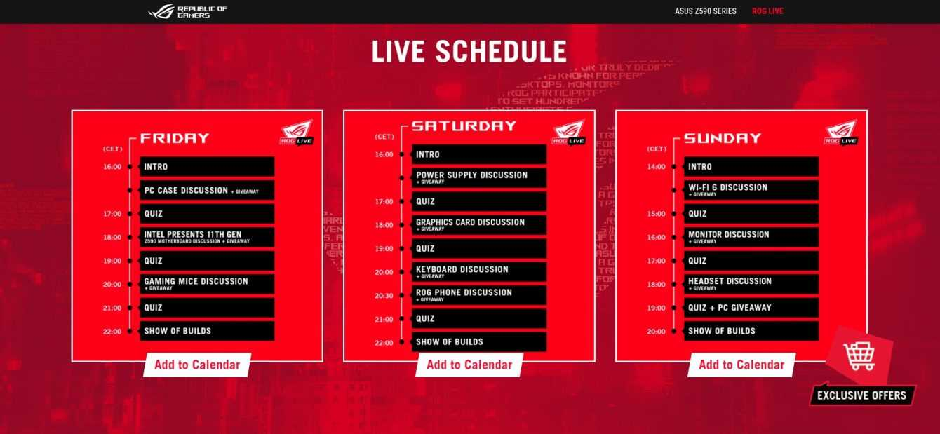 ASUS ROG Live 2021: the dates of the event dedicated to PC Building