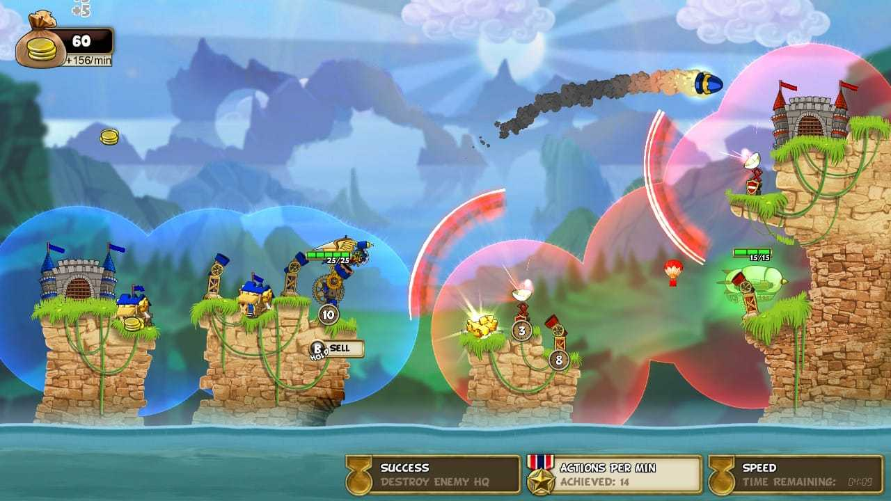 Cannon Brawl review: destroying castles on Switch
