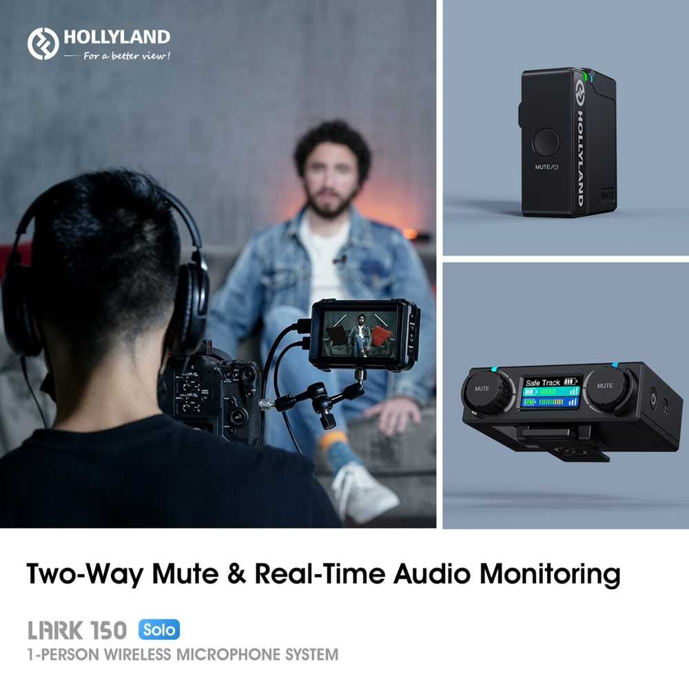 Hollyland kit LARK 150 Solo: new wireless microphones for vloggers