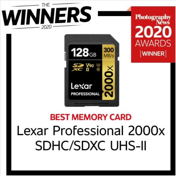 Lexar's 2000x card was named Best Memory Card