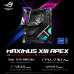 ASUS ROG Maximus 13 Apex: la motherboard to the record