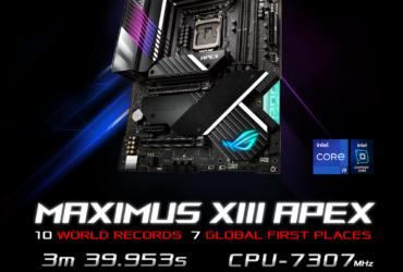 ASUS ROG Maximus 13 Apex: la motherboard to the record