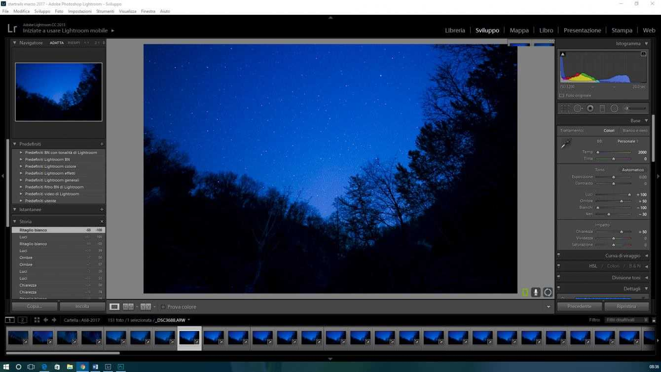 Photographing the stars: post-production - Part 3