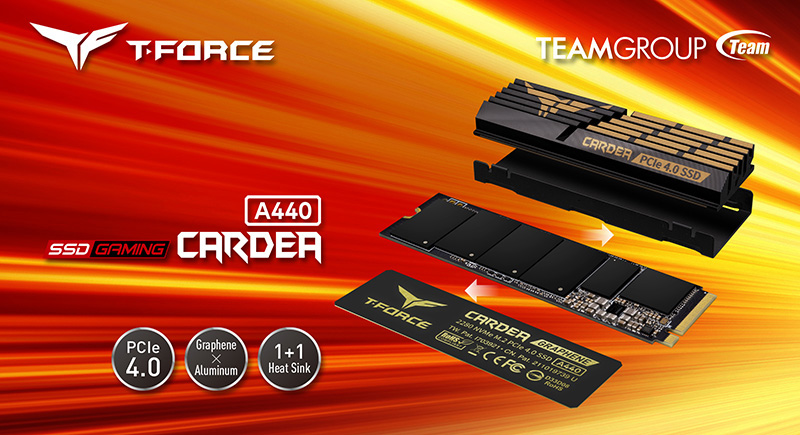 TEAMGROUP presents the SSD T-FORCE CARDEA A440 PCIe 4.0