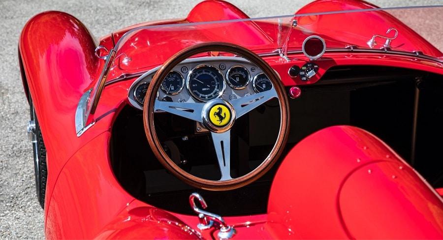 Ferrari red head J interior