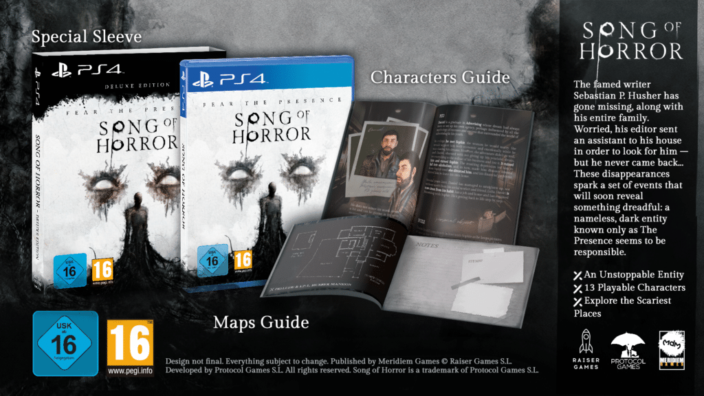 Song of Horror Deluxe Edition disponibile