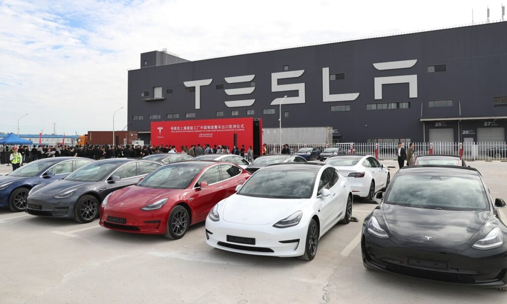 Tesla records sales in 2021 electric cars