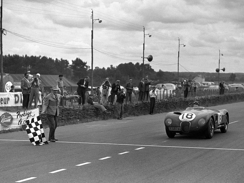 Jaguar C-Type at Le Mans in 1953