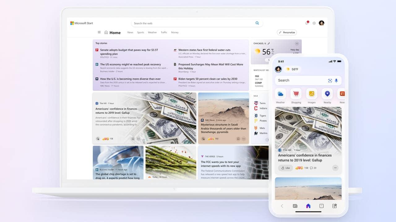Microsoft lancia l'aggregatore di notizie Start thumbnail