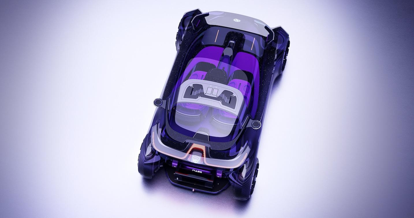 La biposto compatta dal look futuristico proposta da Saic Design thumbnail