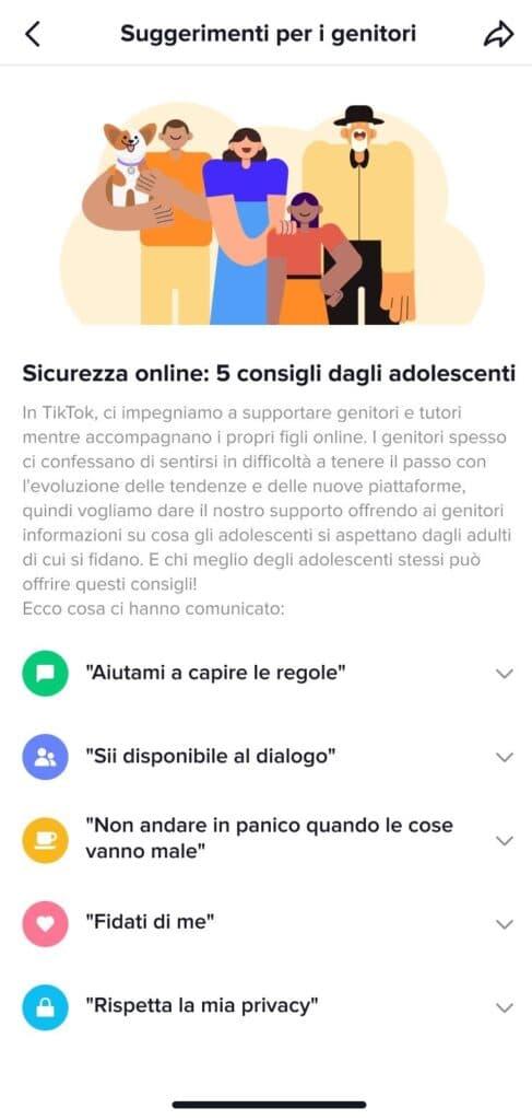 App TikTok parents