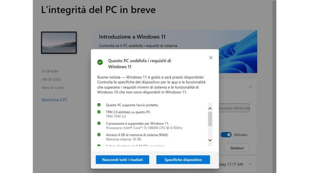 Windows 11 - TPM 2.0 PC Health Check