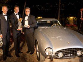 La Ferrari 250 GT del 1956 presente al Concorso di Eleganza Villa d'Este 2021 thumbnail