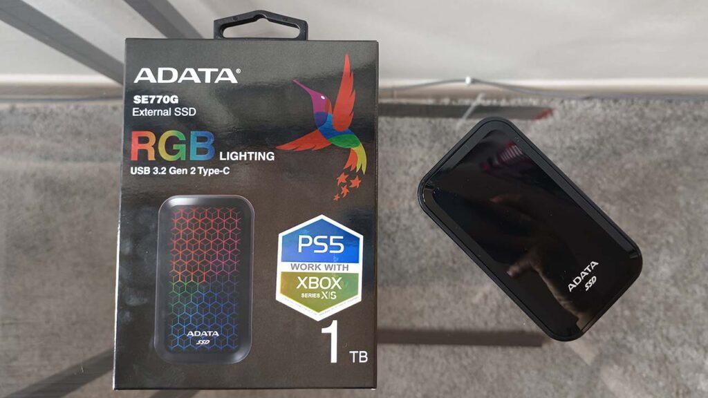 ADATA SE770G external SSD review - front